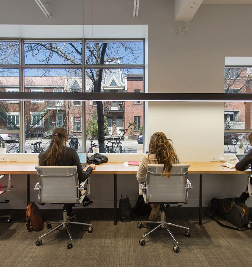 coworking space with light south shore